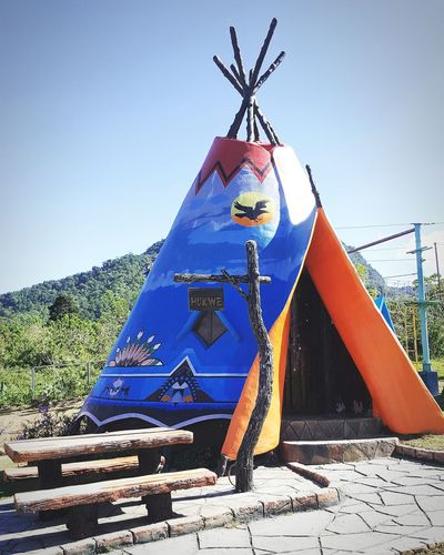 Teepee Day Outdoors Blue No People Sky Philippines The Week On EyeEm Beauty In Nature Nature Full Length Travel Destinations Vacations Cloud - Sky Teepee EyeEmNewHere