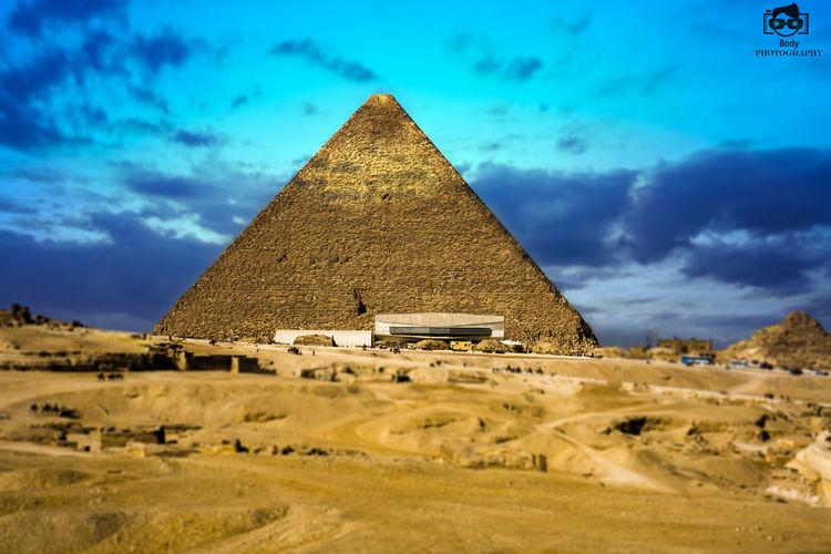 Egypt Morning Pyramid Of Giza Sky Sun Light First Eyeem Photo