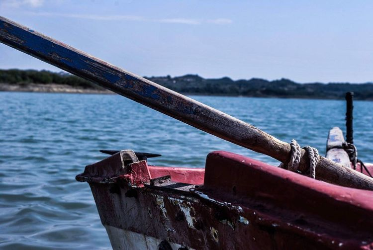 Boat Sea And Sky Water Nature Day Greece EyeEm Nikonphotography Nikon Photography No People Jaimelaliwths