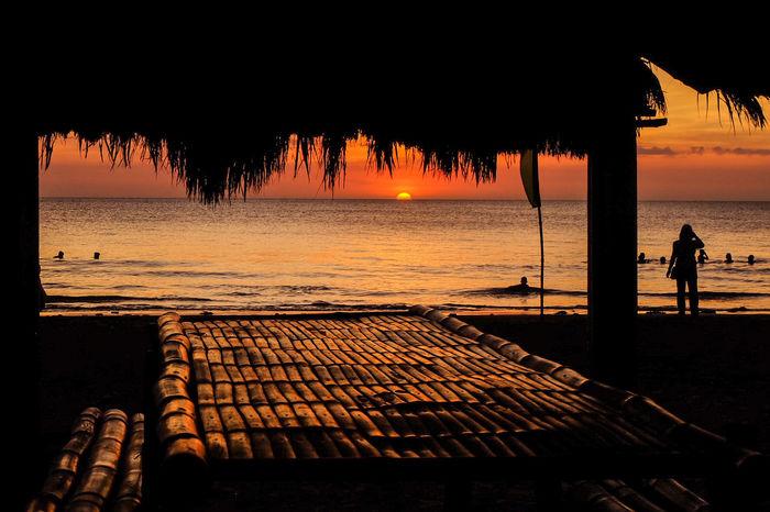 ASIA Orange Sky Philippines Beach Horizon Over Water Landscape Outdoors Scenery Sea Silhouette Sunset Water The Week On EyeEm
