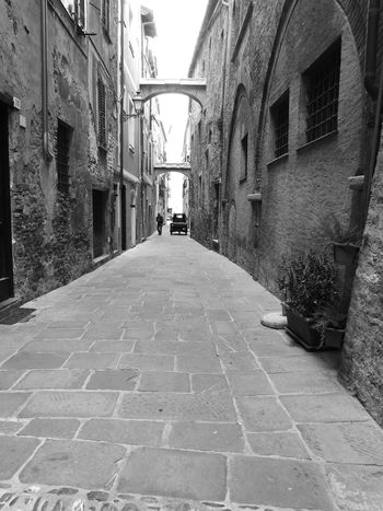 Center City Historical Building Italy🇮🇹 Albenga Outdoors Day Architecture Built Structure The Way Forward Building Exterior City Old Man Truk  Blackandwhite