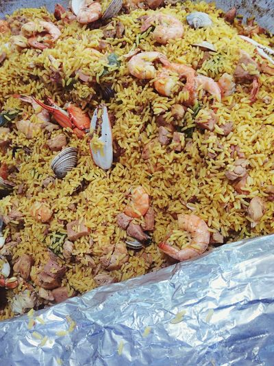 Paella Food SPAIN PaellaValenciana Food And Drink Regional Yellow Party Fiesta Pamplona (Spain) Pamplonada España Shrimps Seafoods Rice Foodie Crab Legs Sunday Homemade Healthy Eating Freshness Day