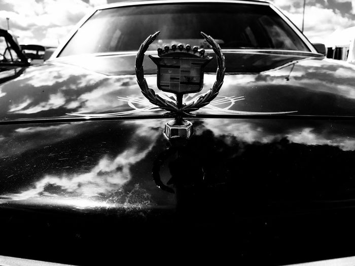 Classic Cadillac Reflection Car No People Land Vehicle Close-up Transportation Blackandwhite Photography Volkspower 9