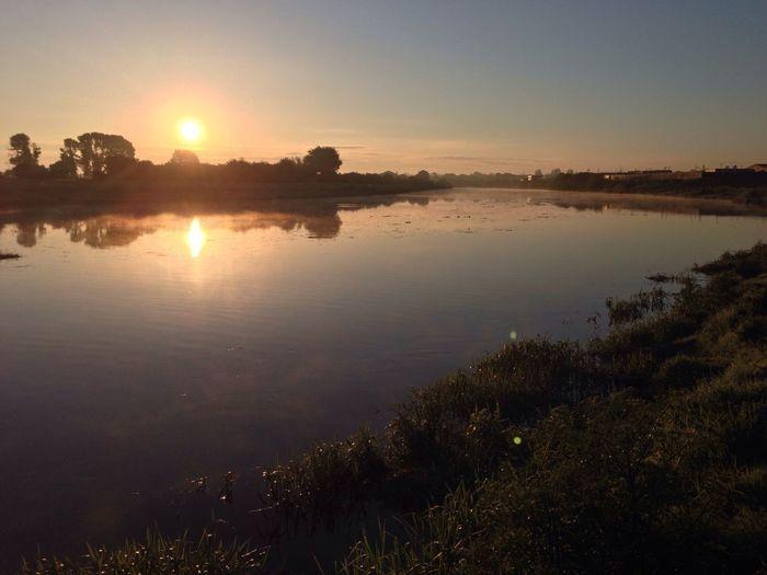 Sunrise over the river Dee Hello World