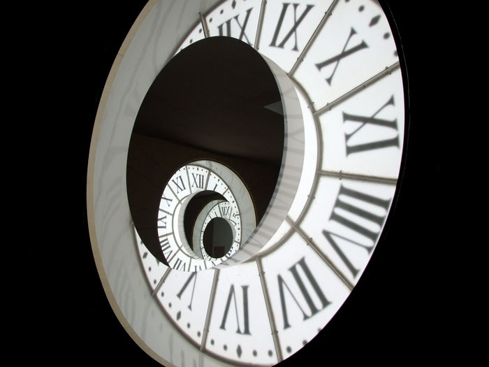 Close-Up Of Illuminated Clock