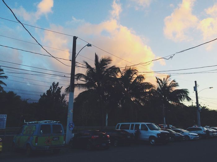 see the scooby doo van in the corner ? EyeEmNewHere Scoobydoo Sky Car Cloud - Sky Land Vehicle Sunset Outdoors Nature Tree Beauty In Nature