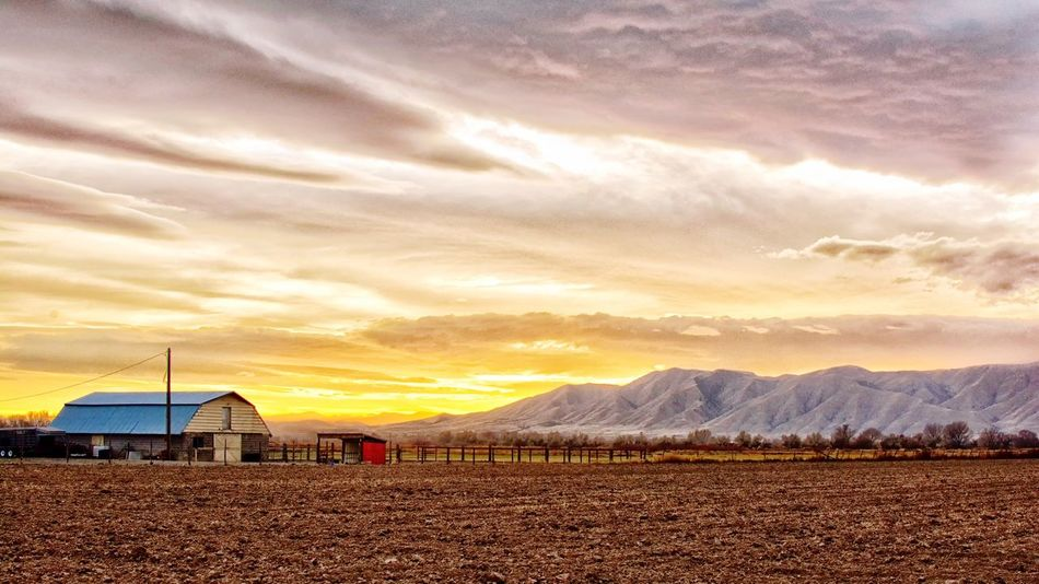Beautiful barn at sunset on HDR Sky Cloud - Sky Sunset Scenics Nature Landscape Beauty In Nature Outdoors Built Structure No People Architecture Day Farmlife Farmland Farm Life Farm Sunset Colors Sunsetlovers Sunsets Landscapes Mountain Beauty In Nature Nature Tranquility Perspectives On Nature