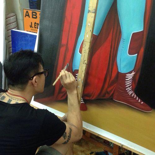 Mix media n progress Painting Charcoal #skull #art #artist #sketch #tattoo #tattooed #ink #inked #pencil #doodle #skin #skeleton #tattooedup #color #colour #cooltattoo #picture #picture #bones #skull Art #wallart #skulltattoo #skullhead #skullaholic  ArtWork LPHartwork Art Mixmedia Self Portrait
