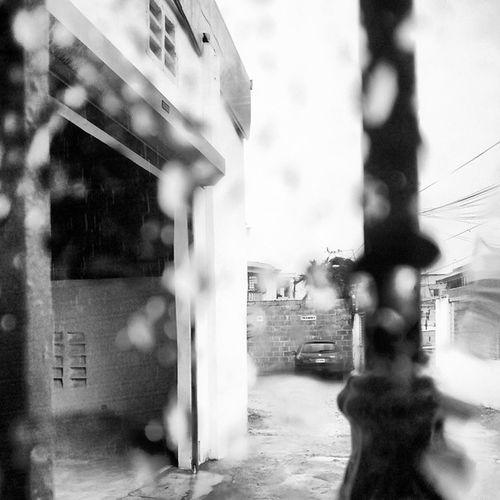 That afternoon rain Drops Rain Bw