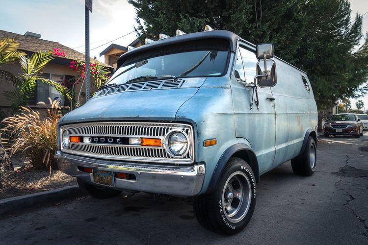 Van Venice Dodge Los Ángeles California Car Transportation Blue Vintage Classic
