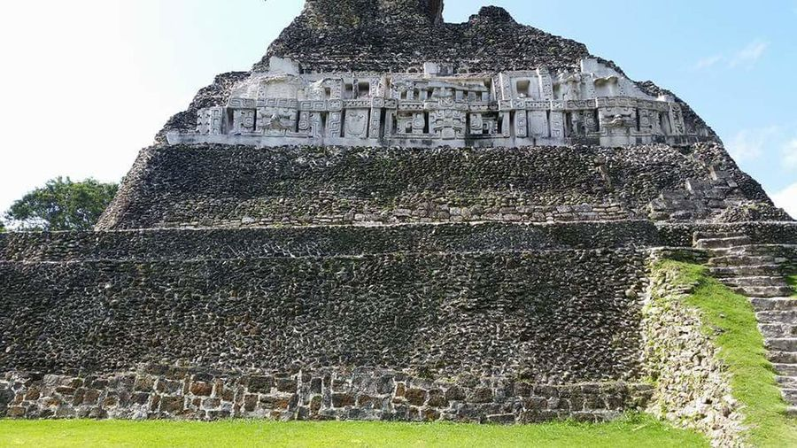Mayan ruins in Belize Pyramid Mayan Ruins Belize  Landscape Vacations Tourism