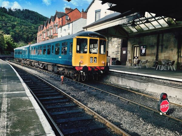 Llangollen Station & an old lady resting Llangollen Llangollen Railway Station Llangollen Railway Trains Heritage