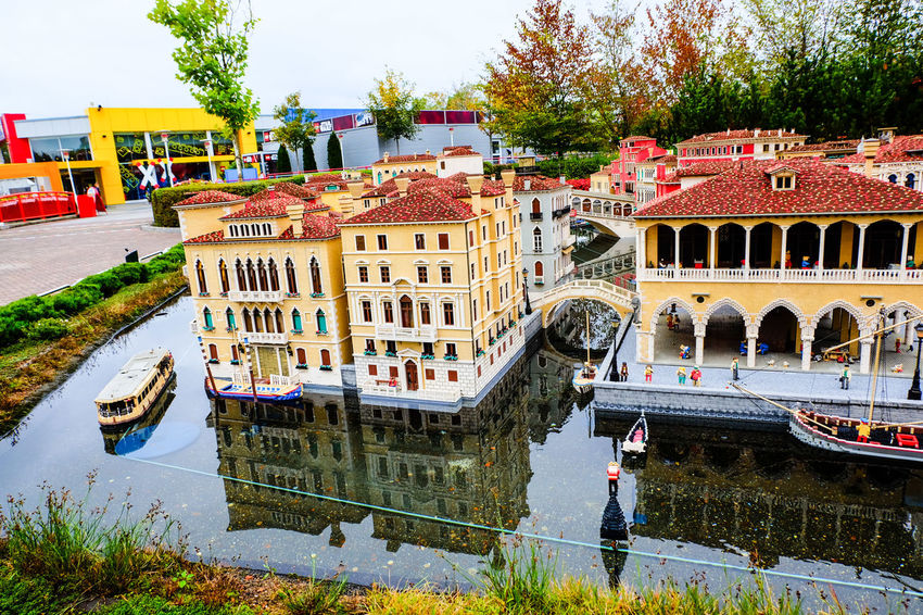 Architecture Bridge - Man Made Structure Building Exterior Canal Day Gondola - Traditional Boat LEGO Legoland Legophotography Leisure Activity Nautical Vessel No People Outdoors Travel Destinations Tree Water Waterfront