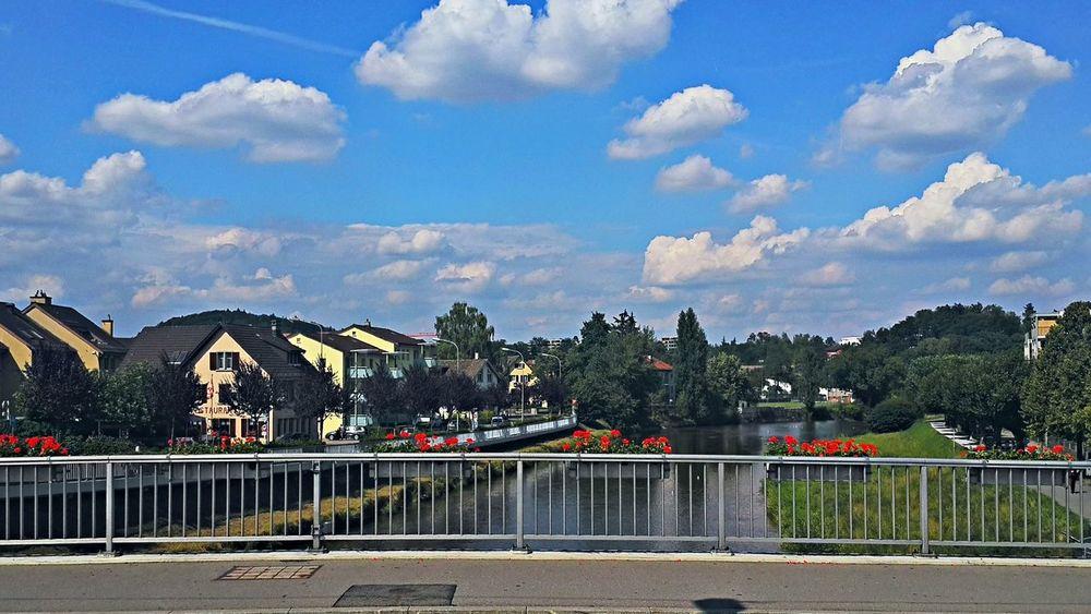 In Adliswil Adliswil City Cloudy River View Sihl Sky Switzeerland Zürich