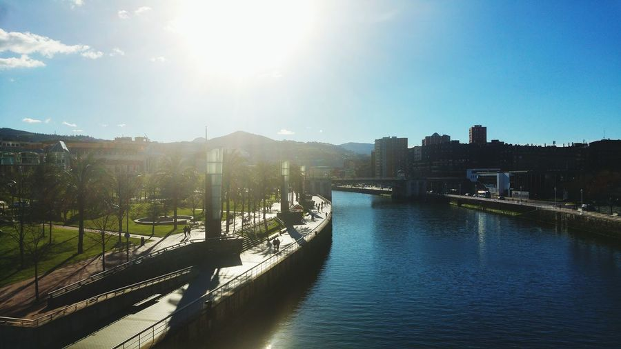 Water Sunlight Reflection Travel Destinations Outdoors River Bilbao Spring City Waterfront Riverside Nature Tranquility Beauty In Nature No People Sky