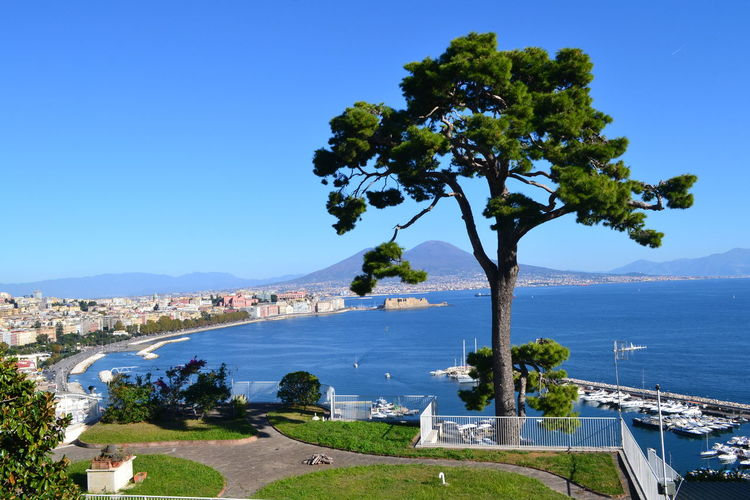 Naples Naples, Italy Nature Architecture Beauty In Nature Blue Building Exterior Built Structure City Clear Sky Day Horizon Over Water Mountain Nature No People Outdoors Place To Visit Scenics Sea Sky Town Tree Vesuviocoast Vesuvius  Water
