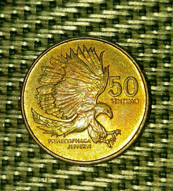 Old coin. Coin Old Oldcoin Monkey Eating Eagle 50cents Centavo 43GoldenMoments