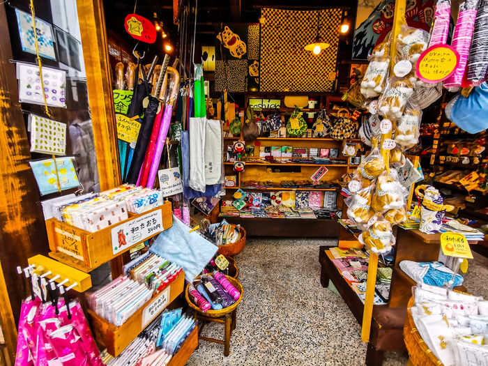 Various objects for sale at shop