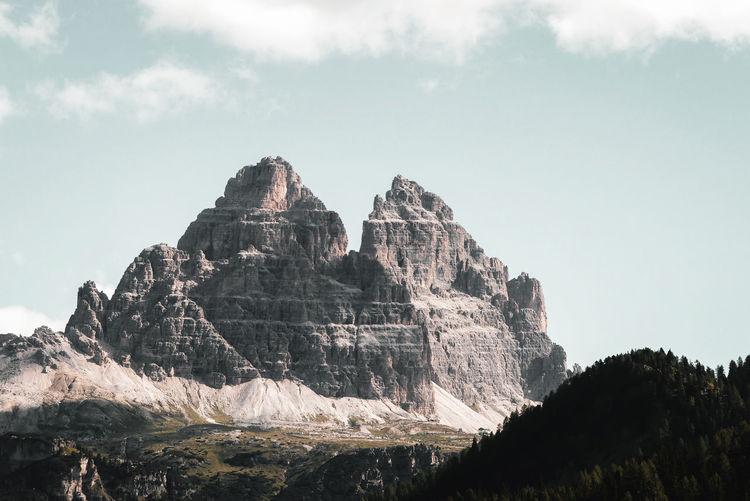 Südtirol Mountain Peak Mountain Outdoors Landscape Tre Cime Di Lavaredo Hiking Mountain Peak Tranquility Scenics Majestic Dolomites, Italy Italy Alps Alpine Alpine Landscape Alto Adige Idyllic Environment Dolomites Landscape Summer Travel Mountain Rock - Object Cliff Sky Geology Tranquil Scene Countryside Hiking Pole