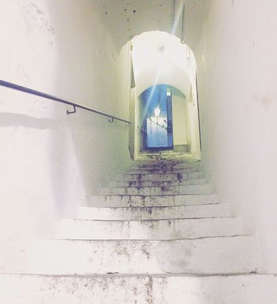 White Blue HiddenAmalfi SecretAmalfi The Way Forward Indoors  Sunlight Steps Staircase Low Angle View No People Steps And Staircases Architecture Day Amalfi Coast Amalfi  Italy Taking Photos Beautiful Stairs Bluelight Charming Place Charming Awesome Love It