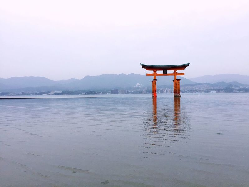 Japan Nature Beauty In Nature Scenics Mountain Spirituality Tranquility Outdoors Tranquil Scene No People Religion Day Built Structure Water Sky Architecture Sea Fog Shrine Temple