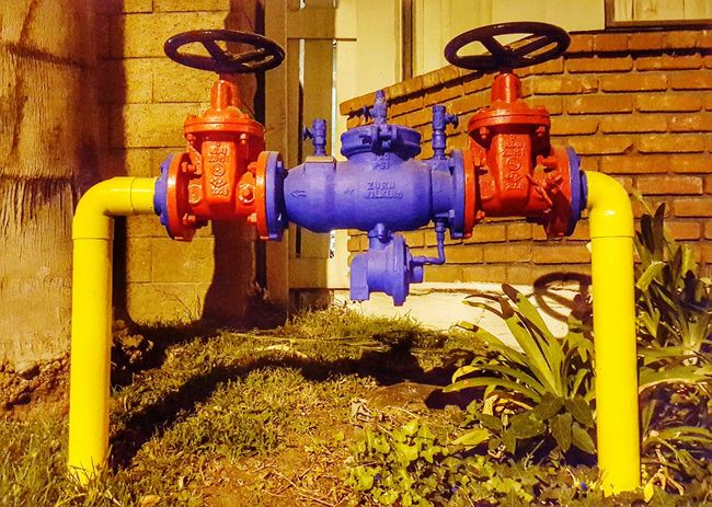 Brightly Colored Fire System Multi Colored Perspective Fire Fighting Equipment Fire Suppression Outdoors Night Photography From My Point Of View Eye4photography  EyeEm Fine Art ForTheLoveOfPhotography Eyeemphotography Colour Of Life Pivotal Ideas