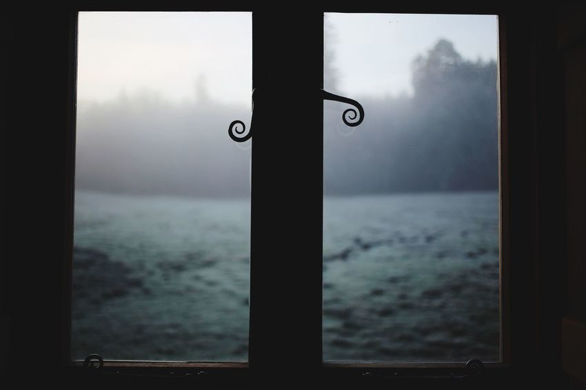 Frost Misty Morning Cabin Forest Cabin In The Woods Misty Windows Window Water Sea Window Sky Nature Glass - Material Day