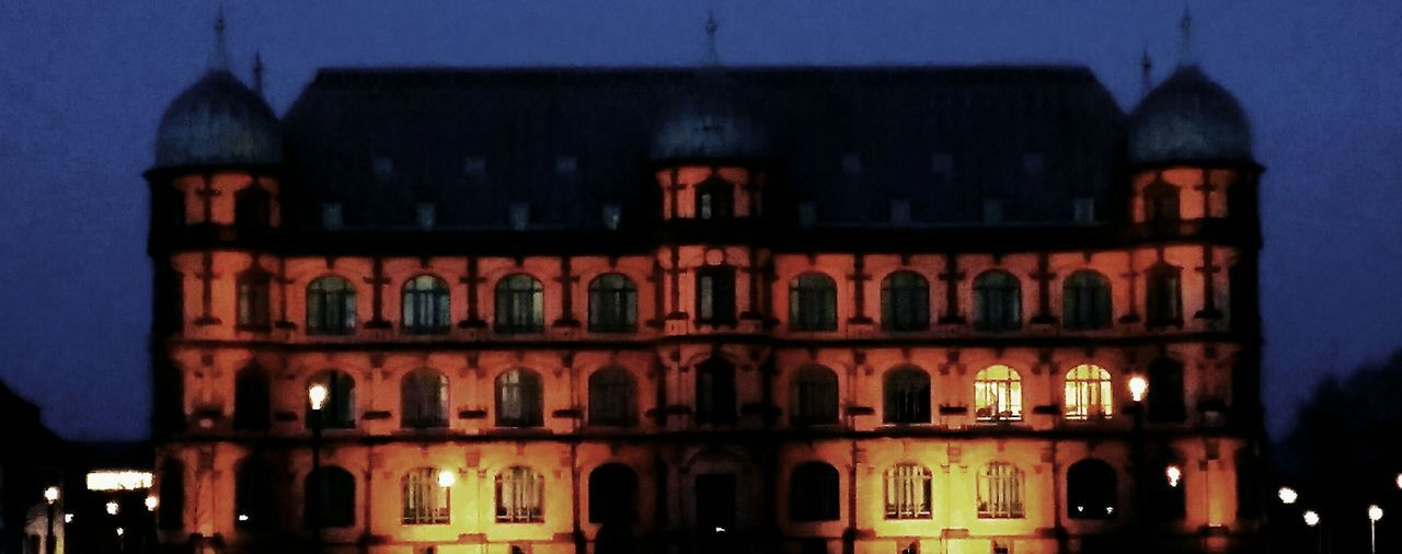 Germany, Karlsruhe Architecture Building Exterior Built Structure Dusk Illuminated Window Night Residential Building City Arch City Life Façade Outdoors Sky History Tall - High Exterior The Architect - 2017 EyeEm Awards