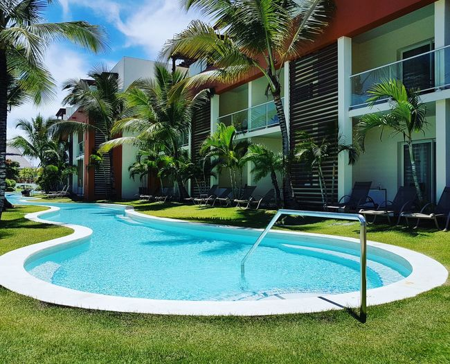 Swimming Pool Water No People Grass Punta Cana, Dominican Republic Morning View Ash Travel Destinations Day Outdoors Sky
