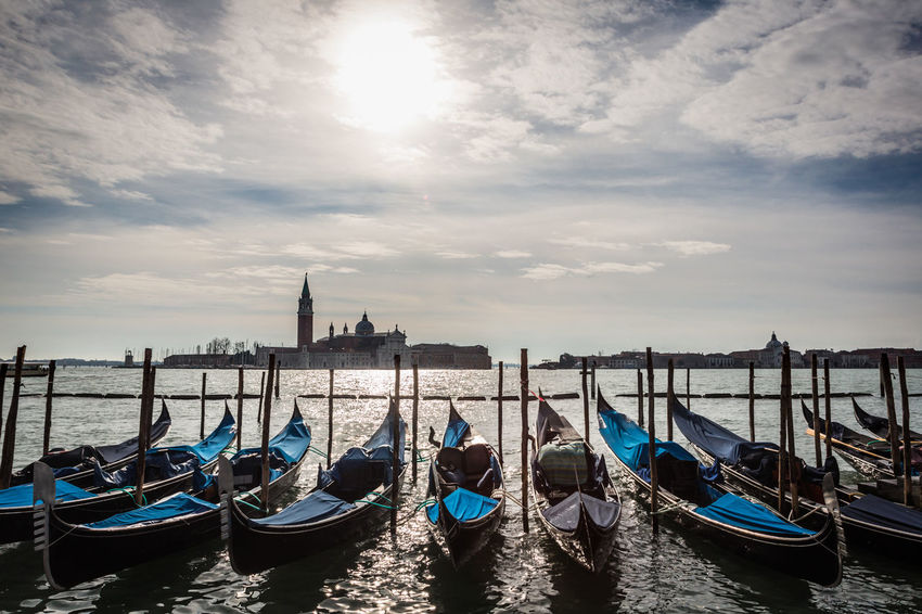 Travel Venezia Architecture Building Exterior Built Structure City Cloud - Sky Day Gondola Gondola - Traditional Boat Italy Moored Nature Nautical Vessel No People Outdoors Sky Transportation Travel Destinations Venice Water Mobility In Mega Cities