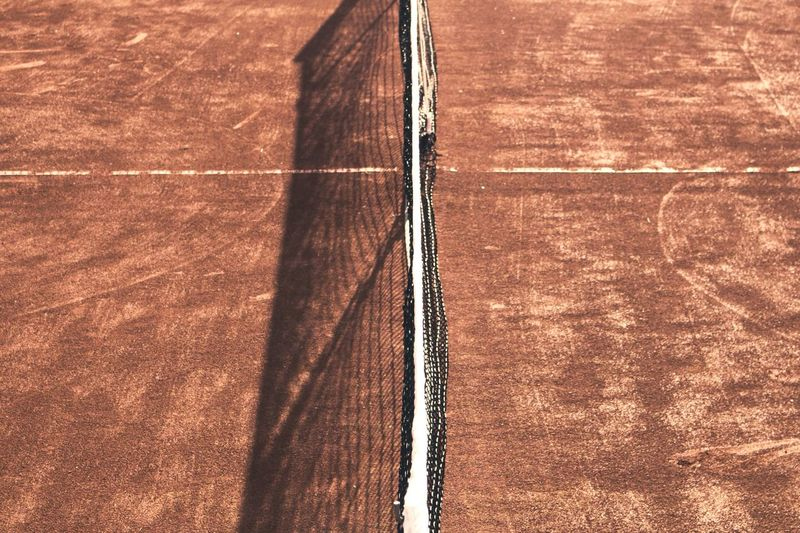 Sport No People Brown Competitive Sport Court Day Sports Track Backgrounds Close-up Outdoors Light And Shadow Net Tennis 🎾 Tenniscourt The Week Of Eyeem The Week On Eyem