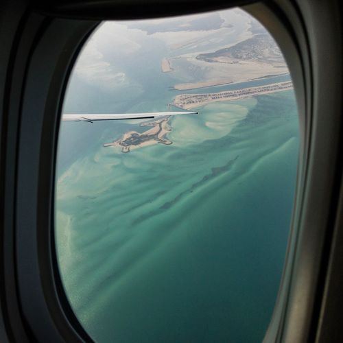 From A Flight Window Water Transportation Window Sea Day Nature It's About The Journey Mode Of Transportation Transparent Travel No People Flying Vehicle Interior Air Vehicle Airplane Outdoors Glass - Material Aerial View Scenics - Nature