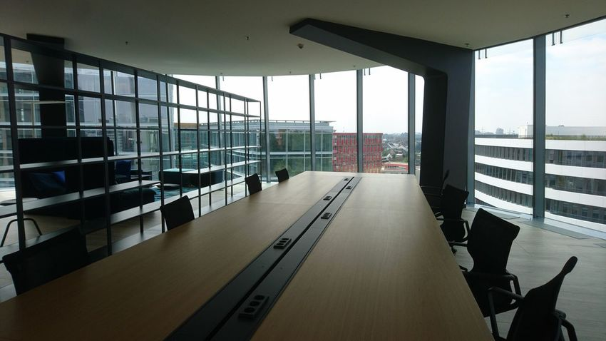Office space. Düsseldorf Germany Office Office Space Emptiness Still Life Glass And Steel Medienhafen Media IT Industry Cupboards Conference Conference Room Work Work Life Light And Shadow City Window Architecture Built Structure Sky