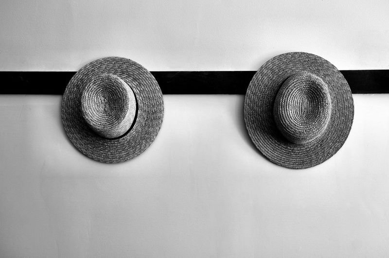 Black Color Close-up Day Geometric Shape Hats Man Made Object Metallic No People Shakers Staw Hats Still Life