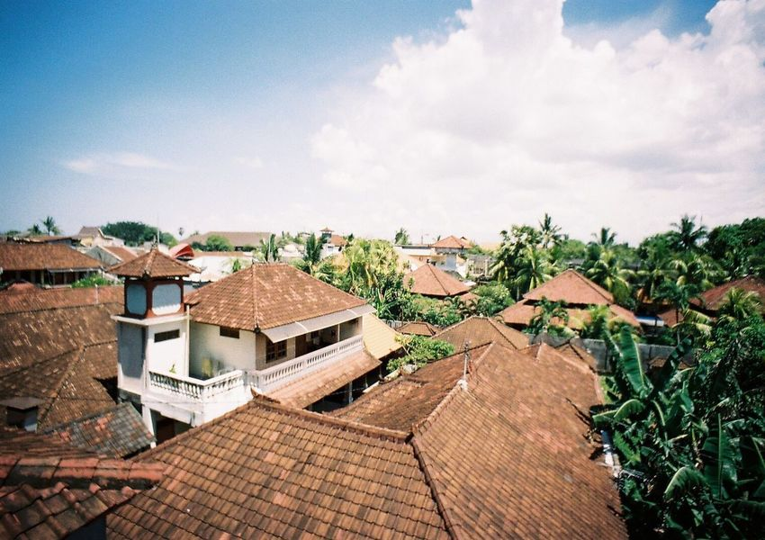 EyeEm Selects Roof Architecture Outdoors Sky Building Exterior Day Cloud - Sky House No People Built Structure Nature Tree Beauty In Nature Tiled Roof  Bali Orange