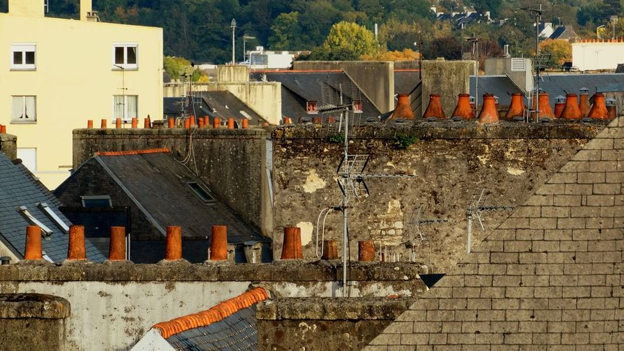 Chimneys Quimper, France Building Exterior Architecture Built Structure Outdoors No People France Brittany Finistere Quimper Chimney Chimneys Rooftops