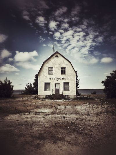 Lonely building by the sea Vignetting Vignette White Isolated Sea Sky Cloud - Sky Building Nature No People Abandoned