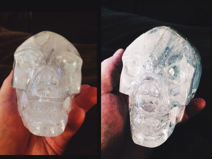 "I Find Metaphysical Items Very Interesting, My Buddy ""Umbert"" One Of My Many Quartz Crystal Skulls✨ Metaphysical Spiritual SPIRITUAL HEALING Crystal Skull Rock Crystal Beauty In Nature Skull Skull Beauty Magic Magical"