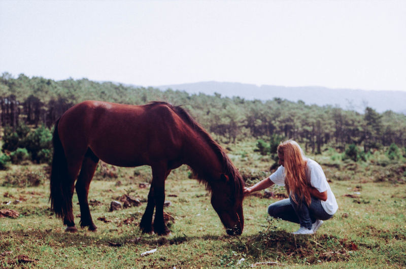 Girl Girls Landscape Long Hair Love For Animals Nature Outdoors Summer The Essence Of Summer The Portraitist - 2016 EyeEm Awards Tranquility