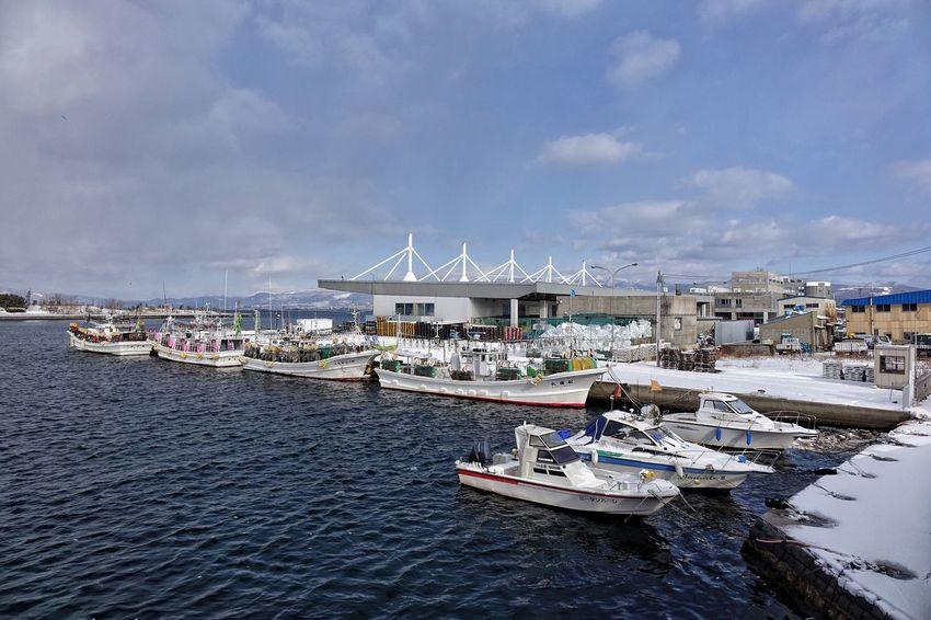 Sky Nautical Vessel Building Exterior Water Sea Hakodate