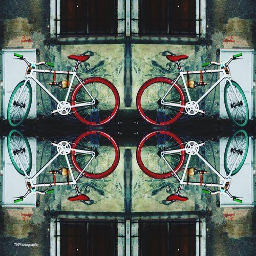 bike Vino Vino Bike Bicycle Close-up Architecture Built Structure Street Art Mural Art Fresco Graffiti ArtWork Door