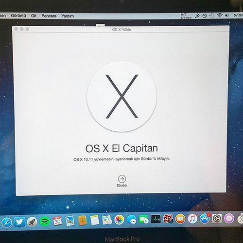 Şimdi sıra OSxElcapitan MacBookPro Elcapitan