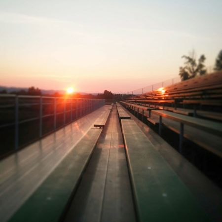 Sunset Bleachers Grandstands Portland Raceway Endofday Quiet Moments