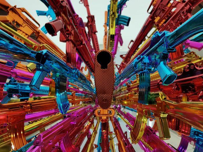 Full Frame Shot Of Colorful Guns