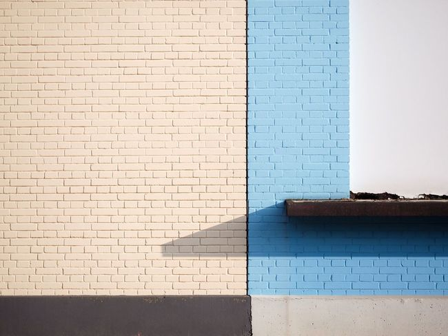 Brick Wall Built Structure Architecture Building Exterior Close-up Outdoors Minimalist Architecture Minimalism Colorblocking Pastel Power Pastel Colors Urban Urban Geometry at Basel, Switzerland Art Is Everywhere The Architect - 2017 EyeEm Awards The Graphic City