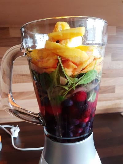 Drink Refreshment Food And Drink Healthy Eating Day Indoors  Fruit Cold Temperature Close-up No People Blender Smoothie Mango Spinach Berries Mixer Healthy Healthy Lifestyle