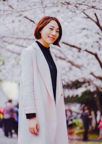 Nikon D610 105mm Sakura Street Photography Selfie ✌ Slight