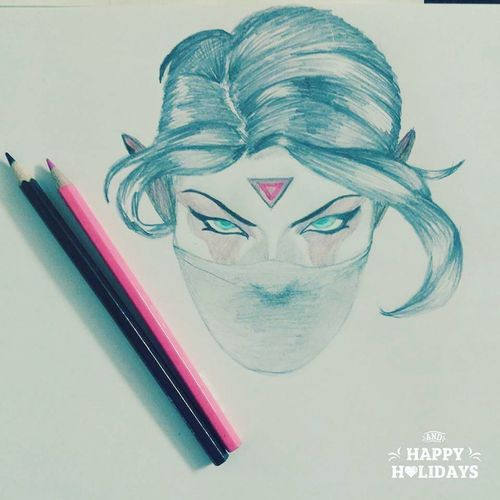 Dota Watercolor Painting2 Art And Craft Creativity Drawing - Art Product Drawing - Activity Paper Fun Portrait Painted Image Pencil Drawing Young Adult Adult People Adults Only First Eyeem Photo