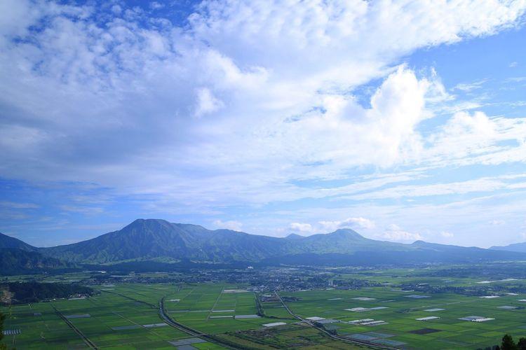 Mountain Mountains Sky Blue Sky Blue Cloud Clouds And Sky Field Fields Fieldscape
