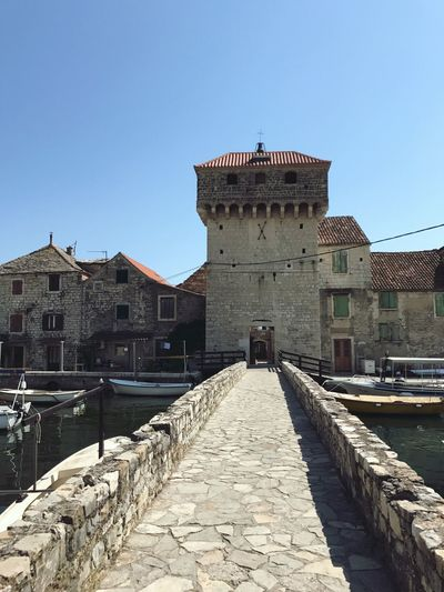 Kastel Gomilica Architecture Built Structure Building Exterior History Day Clear Sky Outdoors Blue Travel Destinations No People Sky City